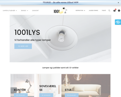 www.1001lys.dk website