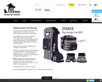 2horse.dk website