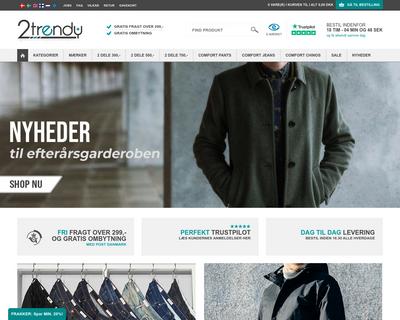 2trendy.dk website