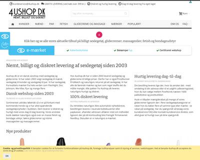 www.4ushop.dk website