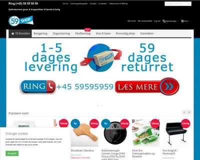 59shop.dk website