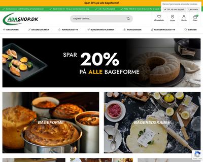 abashop.dk website