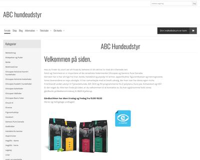 abchundeudstyr.dk website
