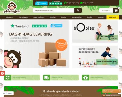 abeungen.dk website