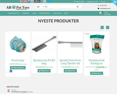 abpettoys.dk website