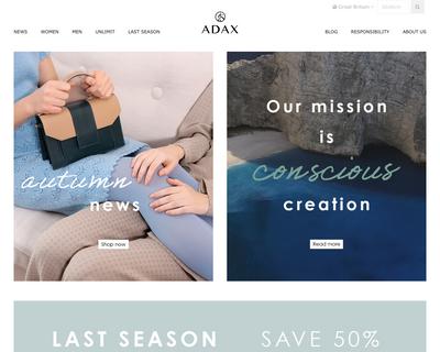 adaxshop.com website