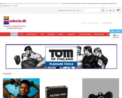 adoniz.dk website