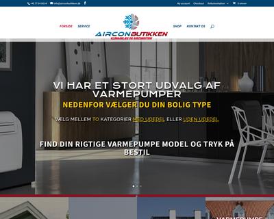 airconbutikken.dk website