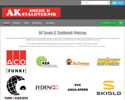 akshop.dk website