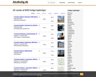 akutbolig.dk website