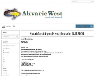 akvarieforretningen.dk website