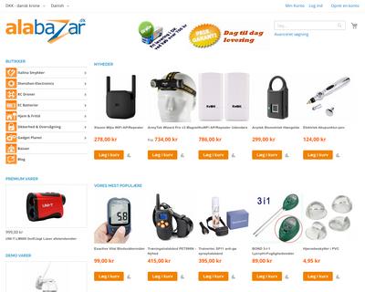 alabazar.dk website