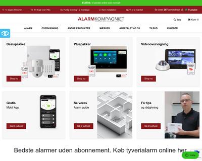 alarmkompagniet.dk website