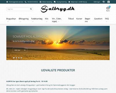 albryg.dk website
