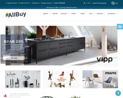 allbuy.dk website