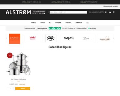 alstrom.dk website