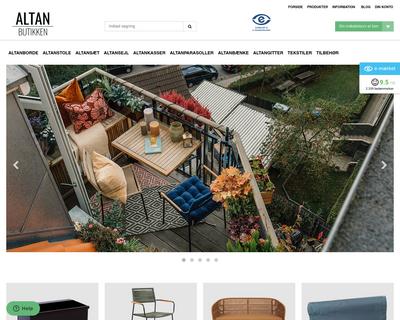 altanbutikken.dk website