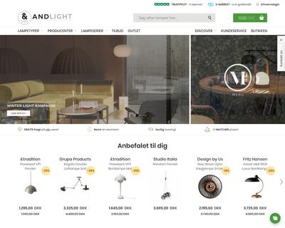 andlight.dk website