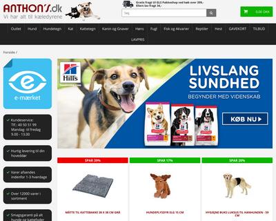 anthons.dk website