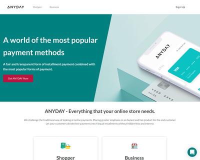 anyday.io website
