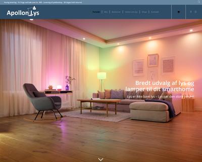 apollonlys.dk website