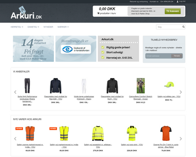 arkuri.dk website
