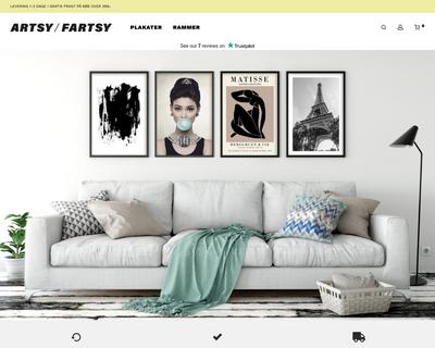 artsyfartsy.dk website