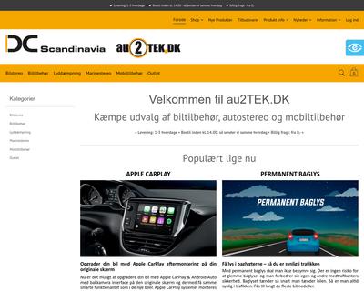 www.au2tek.dk website