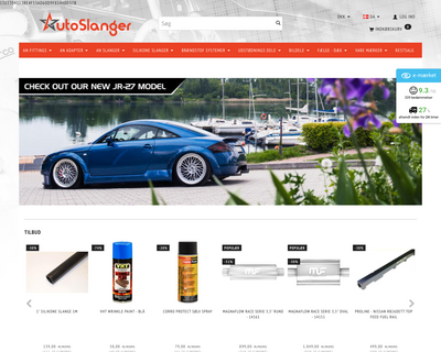 autoslanger.dk website