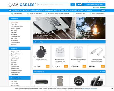 av-cables.dk website
