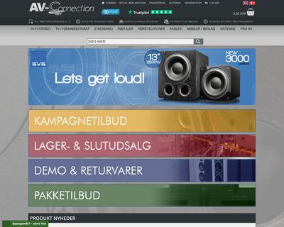 www.av-connection.dk website