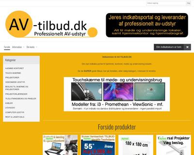 av-tilbud.dk website