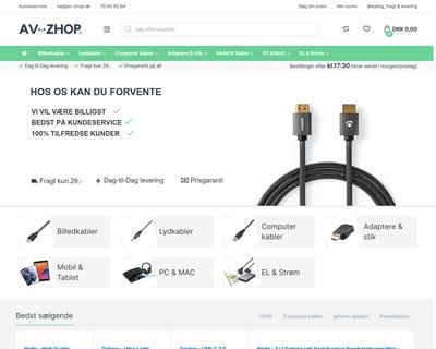 www.av-zhop.dk website