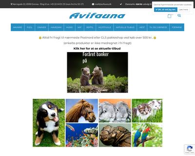 avifauna.dk website