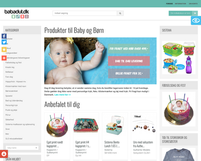 babadut.dk website