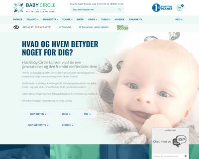 babycircle.dk website