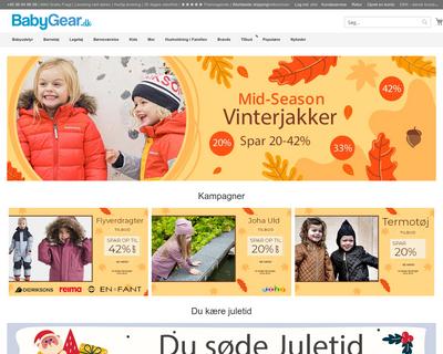 babygear.dk website
