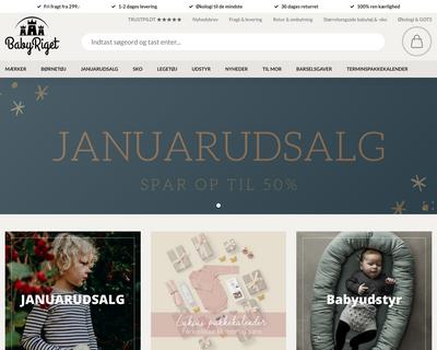 babyriget.dk website