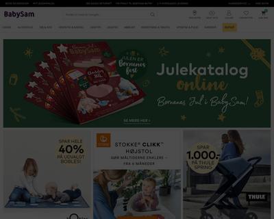 babysam.dk website