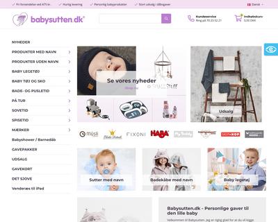 babysutten.dk website