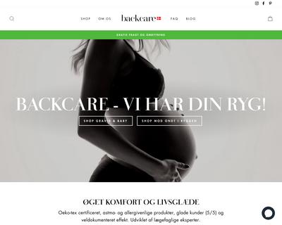 backcare.dk website