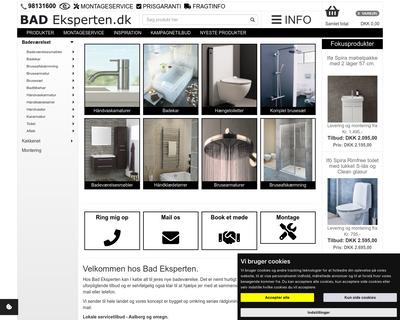 badeksperten.dk website