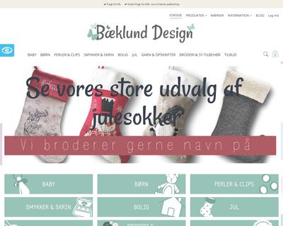 baeklunddesign.dk website