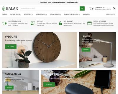 balar.dk website