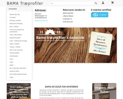 bama.dk website