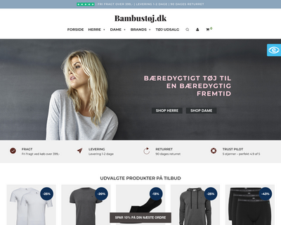 bambustøj.dk website
