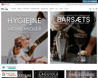 www.barlife.dk website