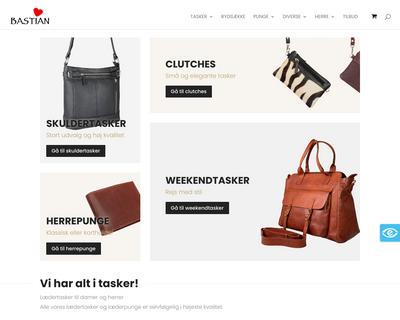 bastianlaedervarer.dk website