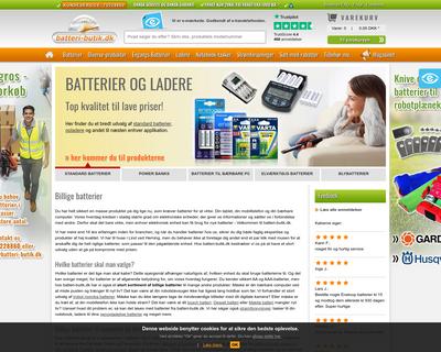 batteri-butik.dk website