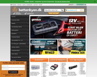batteribyen.dk website